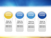 Blue Sky With Sunbeams PowerPoint Template#5