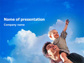 People: Father and Son PowerPoint Template #02217
