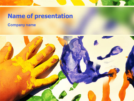 Paint PowerPoint Template, 02218, Education & Training — PoweredTemplate.com