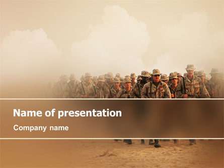 Military: Infantry PowerPoint Template #02219