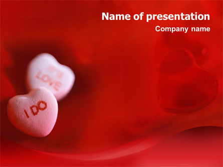 Holiday/Special Occasion: Love Candies PowerPoint Template #02223