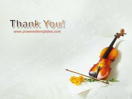Violin And Yellow Flowers PowerPoint Template Slide 20