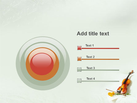 Violin And Yellow Flowers PowerPoint Template Slide 9