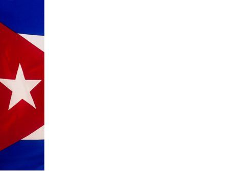 Flag of Cuba PowerPoint Template, Slide 3, 02229, Flags/International — PoweredTemplate.com