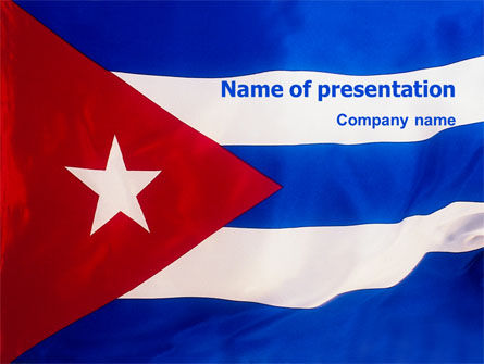 Flags/International: Modèle PowerPoint de drapeau de cuba #02229