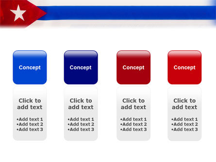 Flag of Cuba PowerPoint Template Slide 5