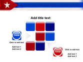 Flag of Cuba PowerPoint Template#16