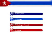 Flag of Cuba PowerPoint Template#3