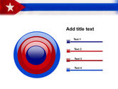 Flag of Cuba PowerPoint Template#9