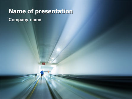 Cars and Transportation: Air Terminal PowerPoint Template #02231