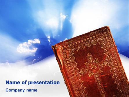 Bible PowerPoint Template, 02236, Religious/Spiritual — PoweredTemplate.com