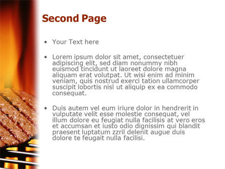 Burgers On Grill PowerPoint Template Slide 2