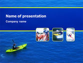 Sports: Kayaking PowerPoint Template #02239