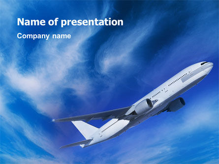 Cars and Transportation: Airship PowerPoint Template #02241