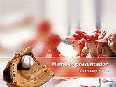 Sports: School Baseball PowerPoint Template #02242