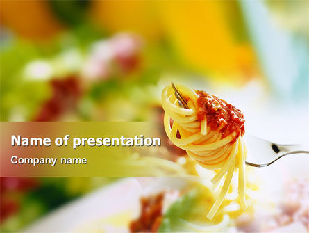 Italian Food PowerPoint Template, 02244, Food & Beverage — PoweredTemplate.com