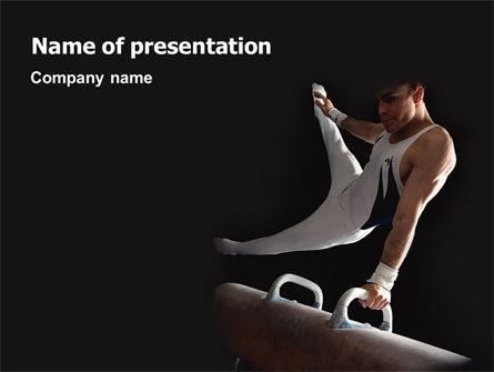 Male Gymnastics PowerPoint Template, 02245, Sports — PoweredTemplate.com