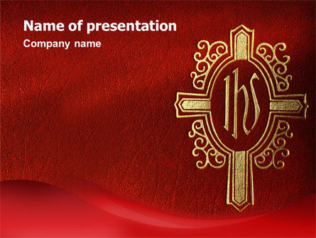 Holy Cross PowerPoint Template, 02246, Religious/Spiritual — PoweredTemplate.com