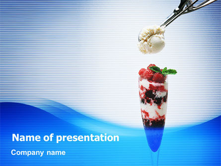 Raspberry Ice Cream PowerPoint Template, 02247, Food & Beverage — PoweredTemplate.com