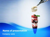 Food & Beverage: Himbeereis PowerPoint Vorlage #02247