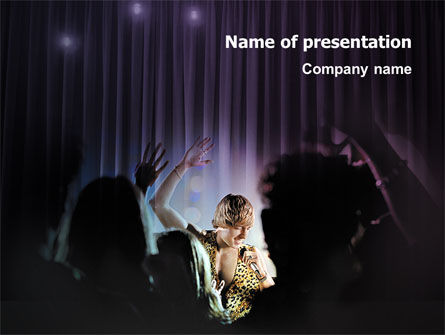 Art & Entertainment: Show Business PowerPoint Template #02249