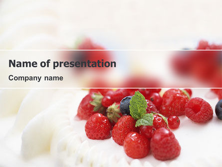 Food & Beverage: Berry PowerPoint Template #02250