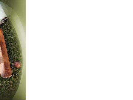Cricket Field PowerPoint Template, Slide 3, 02251, Sports — PoweredTemplate.com