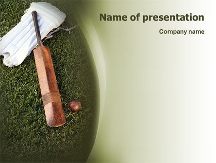 Sports: Cricket Field PowerPoint Template #02251