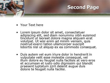 American Football Game PowerPoint Template Slide 2