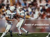 Sports: American Football Game PowerPoint Template #02252
