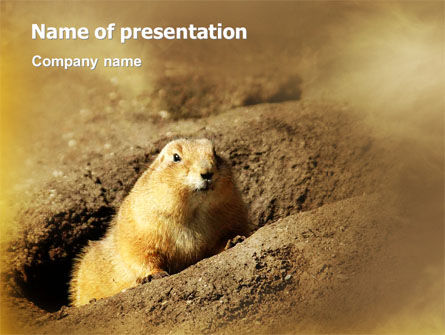 Nature & Environment: Marmot PowerPoint Template #02254