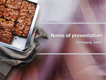Food & Beverage: Pie In Baking Tray PowerPoint Template #02256