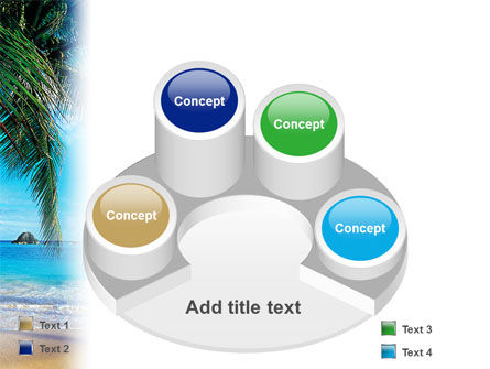 Vacation In A Blue Lagoon PowerPoint Template Slide 12