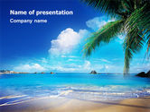 Nature & Environment: Vacation In A Blue Lagoon PowerPoint Template #02257