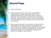 Vacation In A Blue Lagoon PowerPoint Template#2