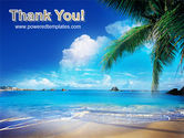 Vacation In A Blue Lagoon PowerPoint Template#20