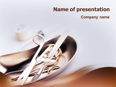 Surgery Tools PowerPoint Template, 02263, Medical — PoweredTemplate.com
