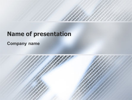 Technology and Science: Abstract Pointers On Grid Surface PowerPoint Template #02264
