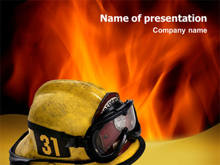Careers/Industry: Fire Extinguishing PowerPoint Template #02265