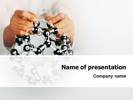 Technology and Science: Creation Of Fullerene Molecule Model PowerPoint Template #02267