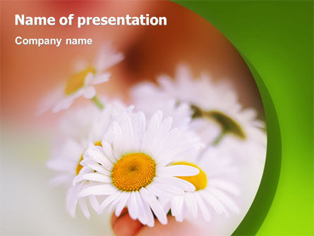 Nature & Environment: Daisy PowerPoint Template #02268