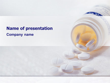Bottle Of Tablets PowerPoint Template, 02269, Medical — PoweredTemplate.com