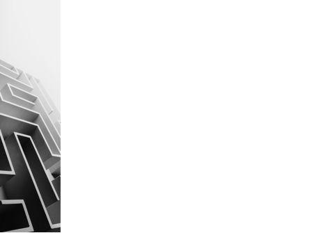 Gray Labyrinth PowerPoint Template, Slide 3, 02270, Business Concepts — PoweredTemplate.com