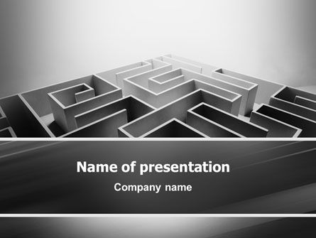 Gray Labyrinth PowerPoint Template