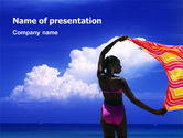 Careers/Industry: Exotic Beauty PowerPoint Template #02271