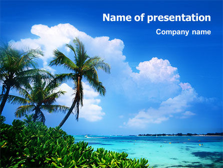 Nature & Environment: Exotic Island PowerPoint Template #02272