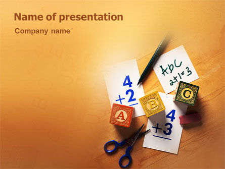 Addition PowerPoint Template, 02278, Education & Training — PoweredTemplate.com