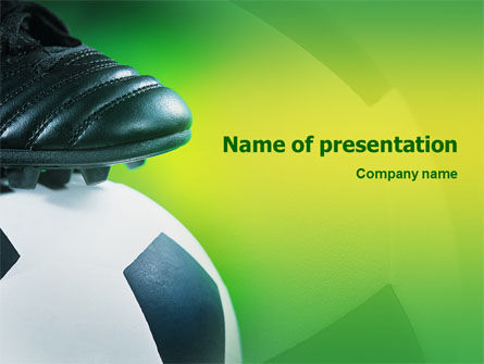 Sports: Football And Football Boots PowerPoint Template #02282