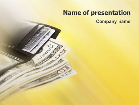 Dollars PowerPoint Template, 02283, Financial/Accounting — PoweredTemplate.com