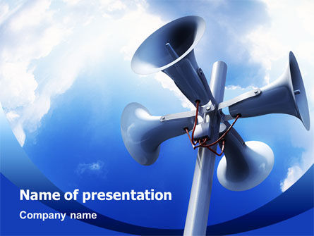 Business Concepts: Loudspeaker PowerPoint Template #02285